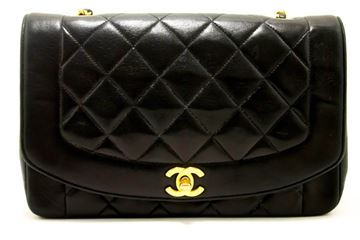 Chanel Crossbody Black Quilted Single Flap Lambskin Shoulder Bag