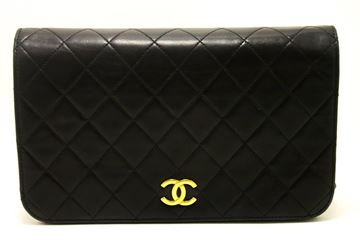 chanel-chain-shoulder-bag-clutch-black-quilted-flap-lambskin-purse-28