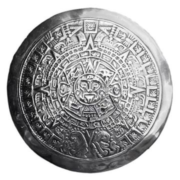 Vintage 1950s Mexican Taxco Sterling Silver Mayan Calendar Brooch
