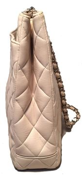 Chanel Cream Quilted Leather Shoulder Tote Bag