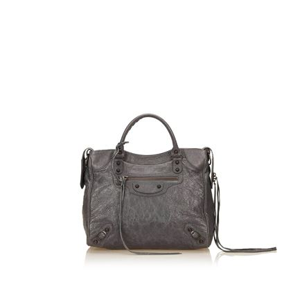 balenciaga-grey-leather-classic-motocross-city-handbag
