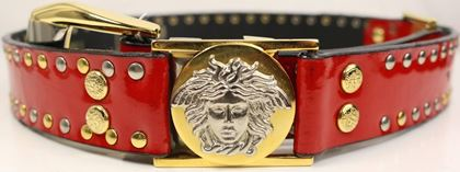 gianni-versace-red-patent-leather-gold-and-silver-studded-medusa-belt