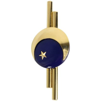 charles-jourdan-gold-toned-navy-metal-star-brooch