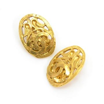 chanel-gold-tone-cc-logo-oval-shaped-earrings