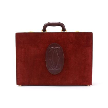 cartier-must-de-cartier-burgundy-suede-leather-briefcase