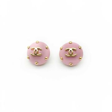 chanel-baby-pink-1996-vintage-cc-logo-clip-earrings-with-stud-detailing