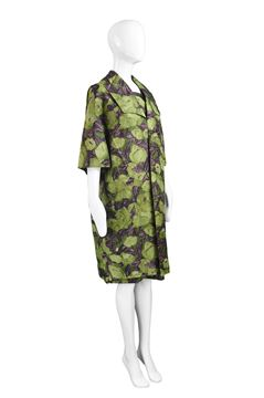 Dellwood Model 1960s Floral Silk Two Piece Set