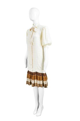 Andrea Odicini 1980s Drop Waist Shift Dress