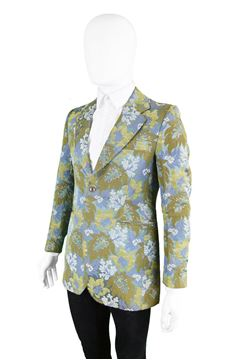 Maggy Rouff 1960s Mens Tapestry Brocade Blazer
