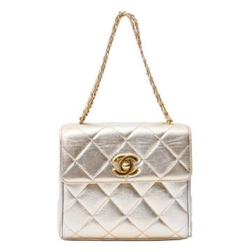 Chanel Turn-Lock Chain Shoulder bag in Champagne Gold