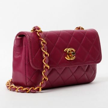 Chanel Turn-Lock Magenta Mini shoulder Bag