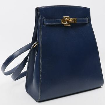 Hermes Kelly Sports PM Blue de Malte Shoulder Bag