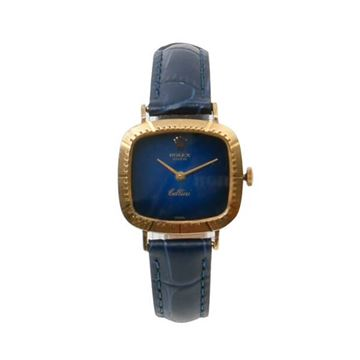 Rolex Cellini Gradation Square Face Blue Unisex Watch