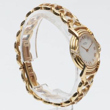 Hermes 18K Gold & Diamond Louvain Watch
