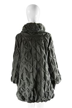 Lanvin 2008 Oversized Geometric Pleated Jacket
