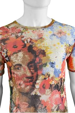 Jean Paul Gaultier 1990s Floral Mesh Men's Shirt