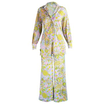 Peter Pan 1960s Psychedelic Vintage Pant Suit