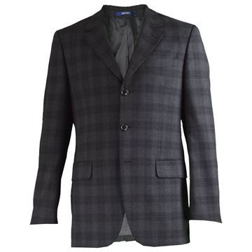 Kenzo Homme Grey & Black Men's Wool Blazer