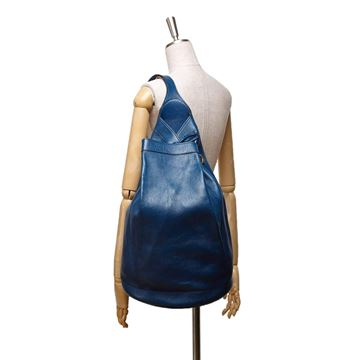hermes-blue-leather-sling-backpack