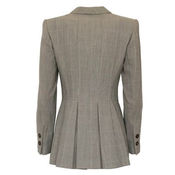 Rena Lange GreyTweed Fitted Jacket