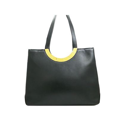 celine-logo-plate-leather-shopping-bag