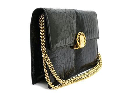 celine-croc-c-logo-chain-shoulder-bag