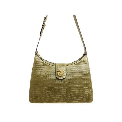 celine-embossed-croc-gold-metal-shoulder-bag