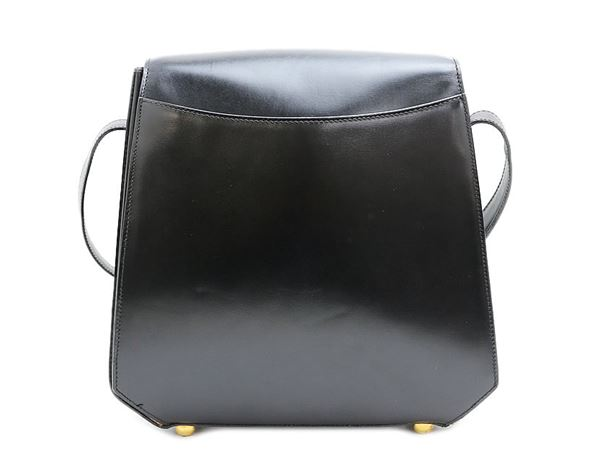 celine-blazon-lock-calf-leather-shoulder-bag