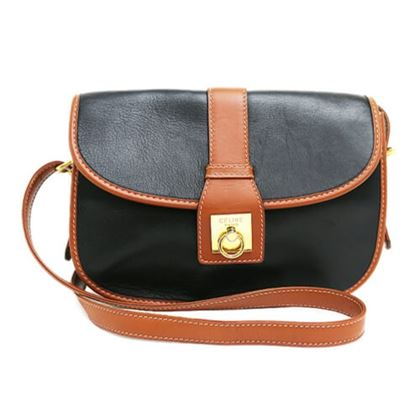 celine-gancini-bicolor-leather-shoulder-bag