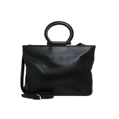 celine-logo-round-handle-leather-hand-bag