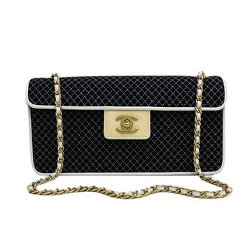 chanel-cotton-matelasse-quilted-chain-shoulder-bag