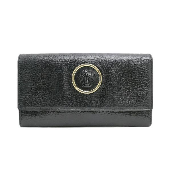 versace-medusa-embossed-leather-fold-long-wallet