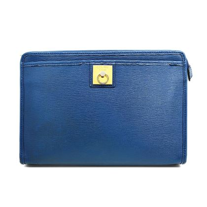 celine-embossed-leather-gancini-clutch-bag