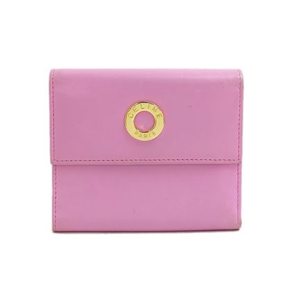 celine-circle-logo-leather-fold-wallet