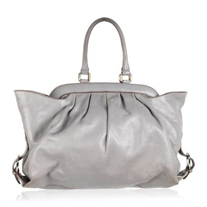 fendi-gray-leather-doctor-tote-bag