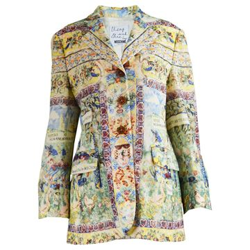 Moschino 1990s Bright Printed Women's Blazer