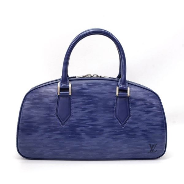 Louis Vuitton Jasmin Blue Epi Leather Top Handle Bag