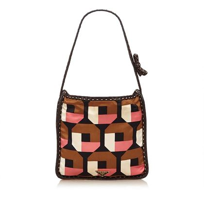 Prada Pink and Multi Colour Saffiano Print Handbag