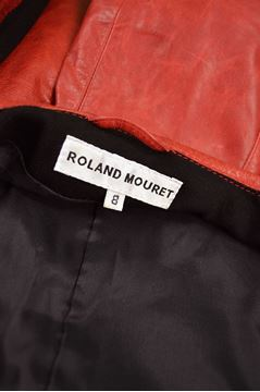 Roland Mouret Marbled Look Slim Fit Leather Jacket