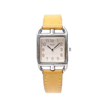 Hermes Yellow Crocodile Cape Cod Watch