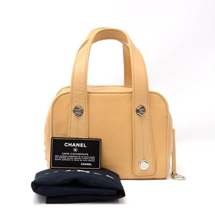 chanel-beige-calfskin-leather-small-boston-hand-bag