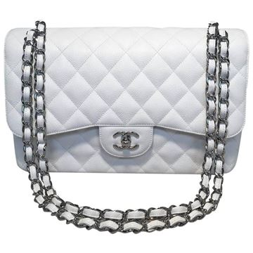 chanel-white-caviar-leather-jumbo-255-double-flap-classic-shoulder-bag