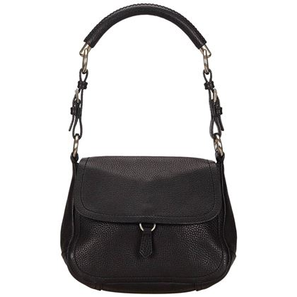 8d818133cf87 ... prada-black-leather-flap-shoulder-bag