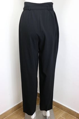 chanel-black-wool-carrot-belted-pants
