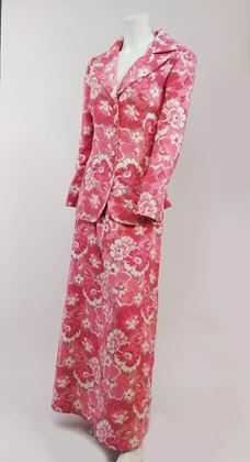 1970s-maxi-skirt-and-suit-jacket-pink-tapestry-set