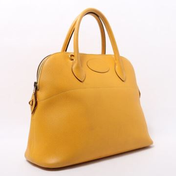 Hermes Bolide 35cm Yellow Top Handle Bag