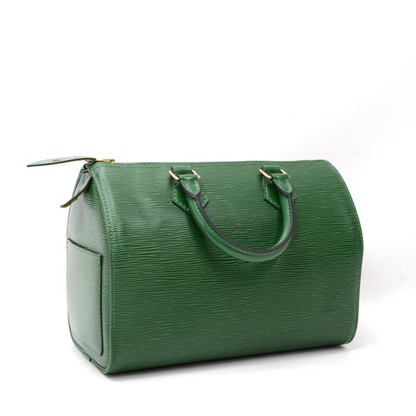 Picture of Vintage Louis Vuitton Speedy 25 Green Epi Leather City Hand Bag