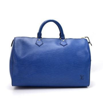 Picture of Vintage Louis Vuitton Speedy 35 Blue Epi Leather City Hand Bag