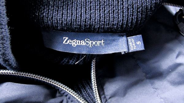 Zegna Sport Wool & Nylon Zip Jacket Men'S Small Navy Blue Wool Nylon  Pre-Owned Used
