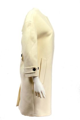 Burberry New Long Cashmere Parka Coat 2 White  New